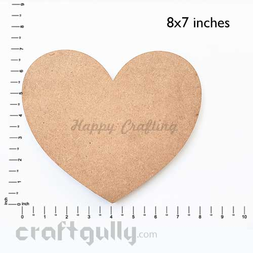 MDF Blank Bases 7mm - Heart 8x7 inches - Pack of 1
