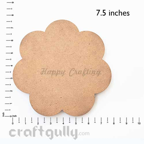 MDF Blank Bases 7mm - Flower 8 inches - Pack of 1