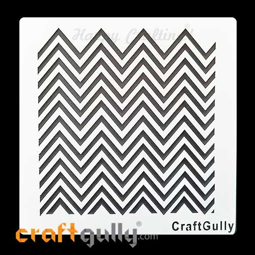 Stencils 6x6 inches - Background #19 - Chevron