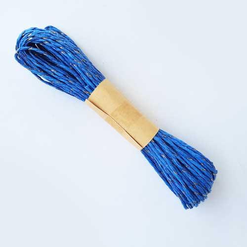 Paper Rope 2mm - Royal Blue & Zari - 10 meters