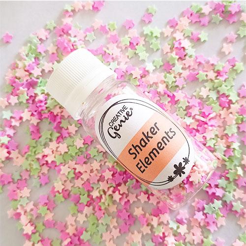 Shaker Slices - Stars Assorted Pastels - 15gms