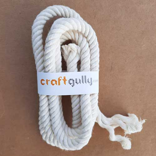 Cotton Rope 8mm - Natural Off White - 1 meter