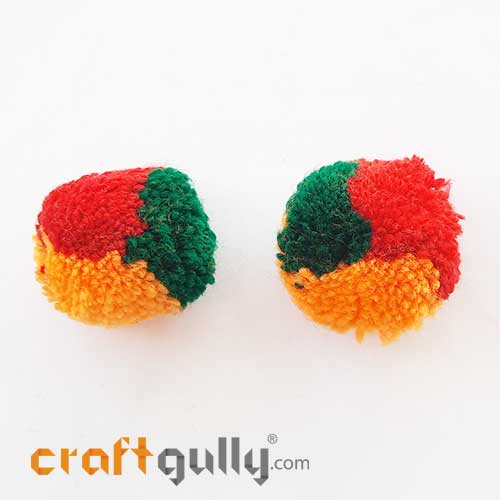 Pom Poms 32mm - Multi - Pack of 2