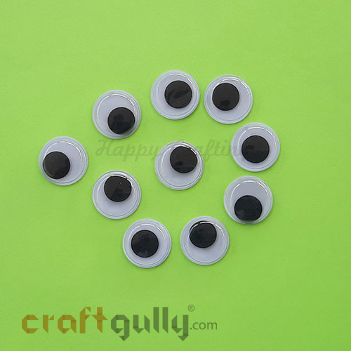 Googly Eyes 16mm - Round - Pack of 10