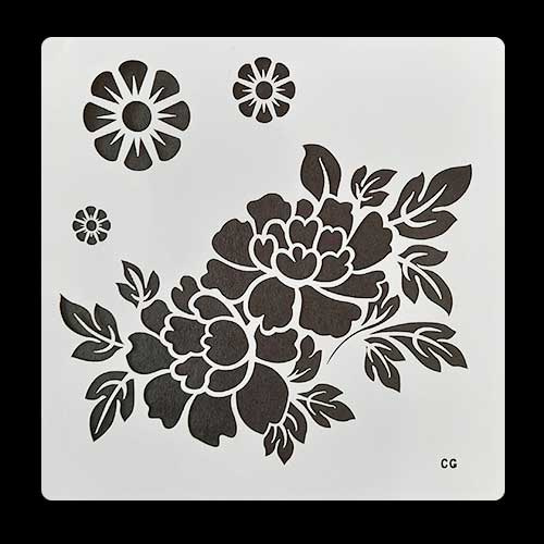 Stencils 6x6 inches - Flower #1