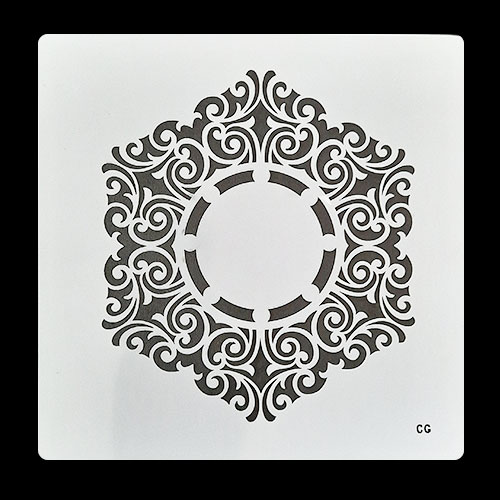 Stencils 6x6 inches - Mandala #10