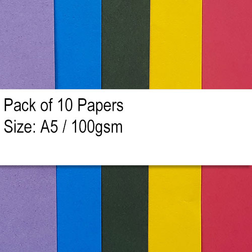 Papers A5 - 100gsm Assorted - Pack of 20