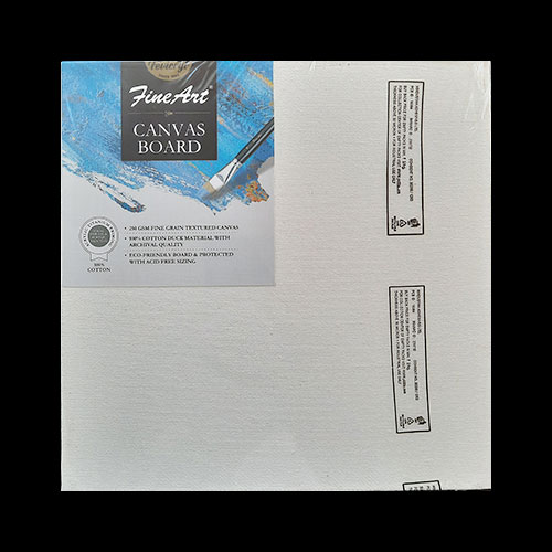 Fine Art Canvas Board - 8x8 inches - Pack of 1