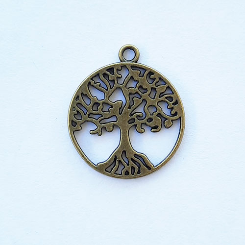 Charms 29mm Metal - Tree #3 - Bronze - Pack of 1