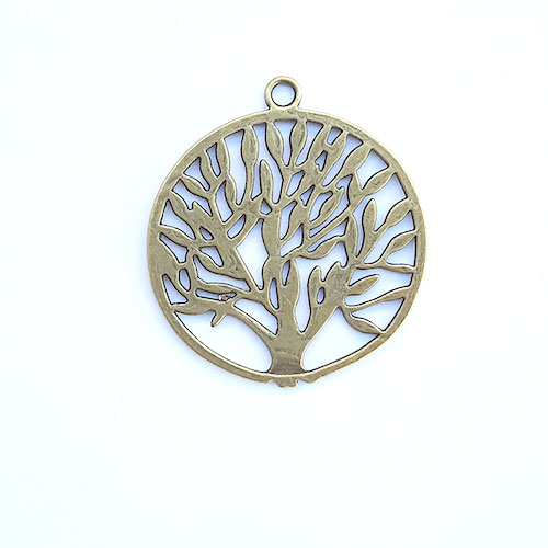 Charms 43mm Metal - Tree #6 - Bronze - Pack of 1