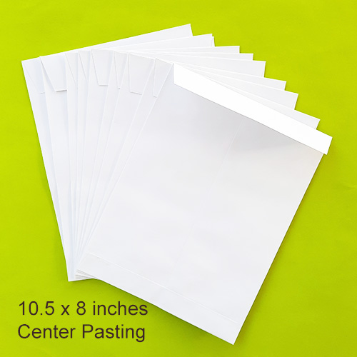 Envelopes 10.5 x 8 inches - White - Centre - Pack of 10