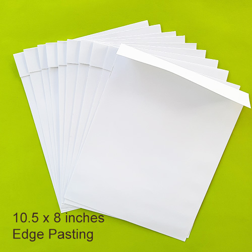 Envelopes 10.5 x 8 inches - White - Edge - Pack of 10
