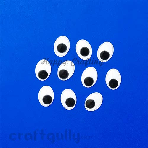 Googly Eyes 17x12mm - Oval - Pack of 10