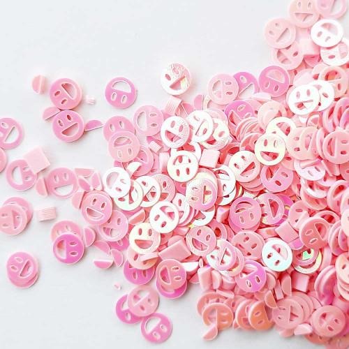 Sequins 6mm - Smiley #1 - Pink – 20gms