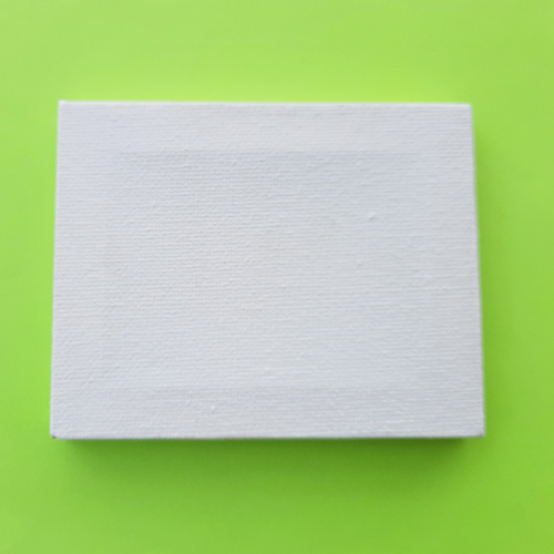 Mini Canvas Frame - 4x3.5 inches White - Pack of 1