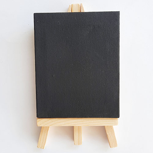 Mini Canvas Frame & Easel - 4x3.5 inches Black - Pack of 1