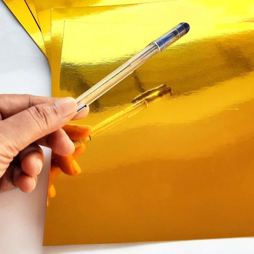 CardStock A4 - Metallic Golden Mirror Finish - Pack of 5