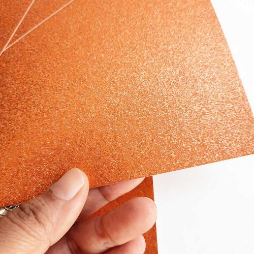 Glitter CardStock A4 - Orange - 5 Sheets