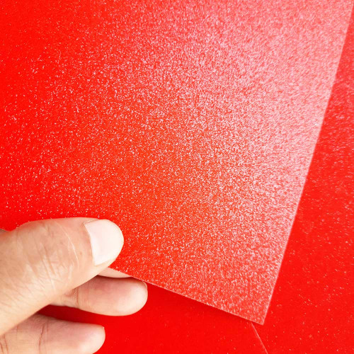 Glitter CardStock A4 - Red - 5 Sheets
