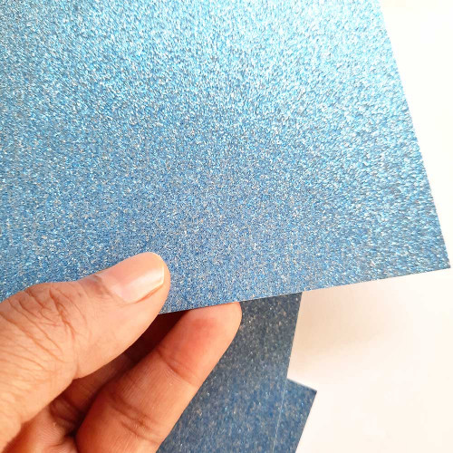 Glitter CardStock A4 - Blue - 5 Sheets