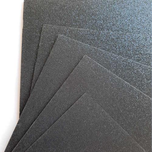 Glitter CardStock A4 - Black - 5 Sheets