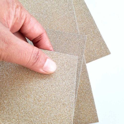 Glitter CardStock A4 - Light Gold - 5 Sheets