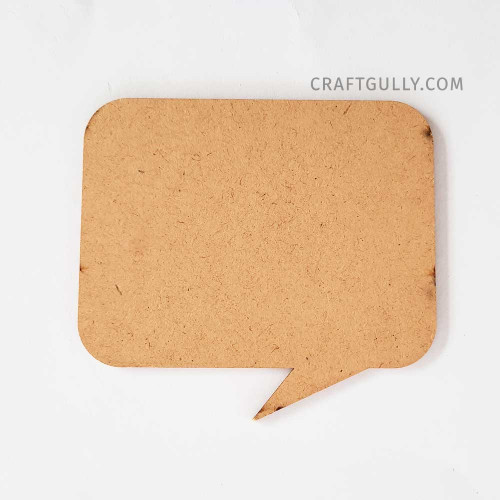 MDF Decor #1 - 101mm Quote Bubble - Pack of 1