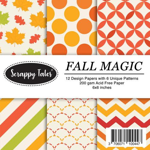 Pattern Paper 6x6 - Fall Magic - Pack of 12