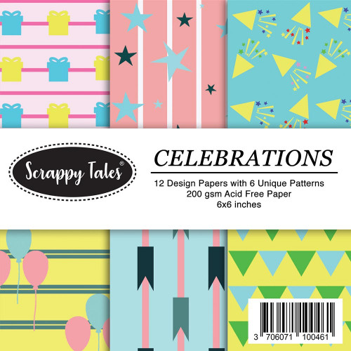 Pattern Paper 6x6 - Celebrations - Pack of 12