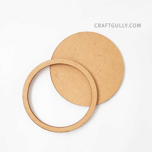 MDF Frames #3 - Round 4 inches - Set of 2