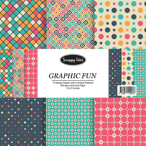 Pattern Paper 12x12 - Graphic Fun - Pack of 12