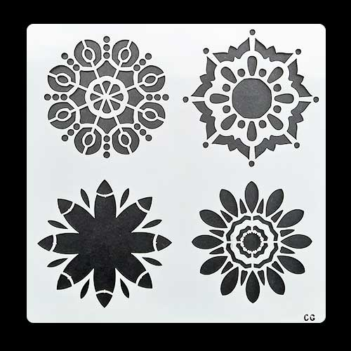 Stencils 6x6 inches - Assorted Patterns #7