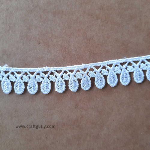 Designer Laces #15 - 17mm - Vintage White - 1 meter