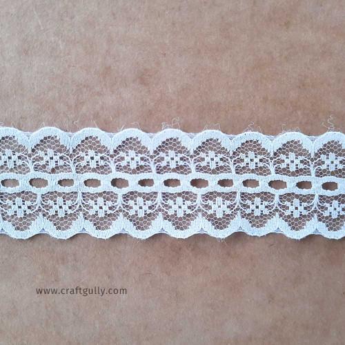 Designer Laces #16 - 33mm - Vintage White - 1 meter