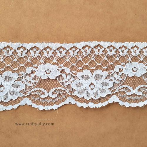 Designer Laces #17 - 60mm - Vintage White - 1 meter