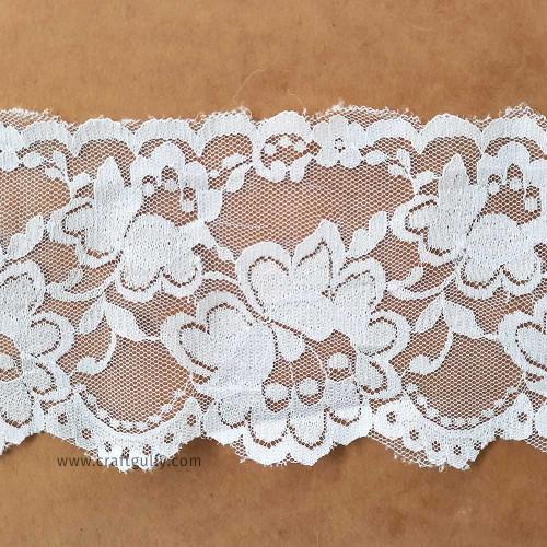 Designer Laces #18 - 90mm - Vintage White - 1 meter