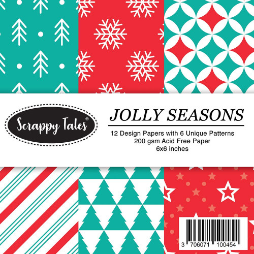 Pattern Papers 6x6 - Jolly Season - Pack of 12