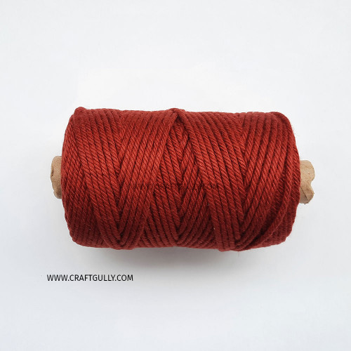 Cotton Macrame Cords 4mm - Twisted Red - 20 meters