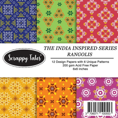 Pattern Papers 6x6 - Rangolis - Pack of 12