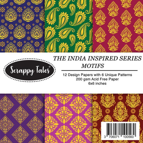 Pattern Papers 6x6 - Motifs - Pack of 12