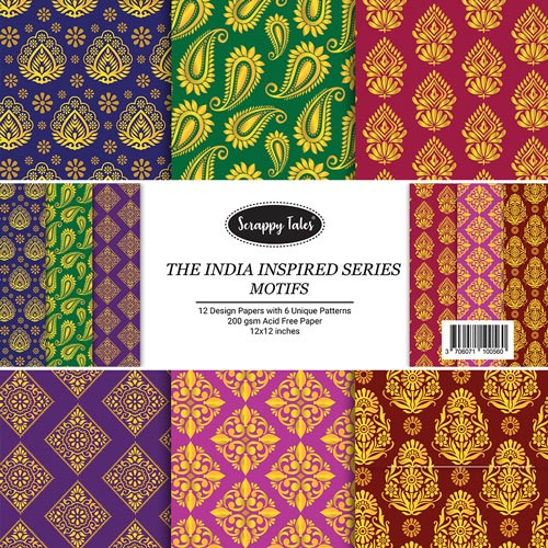 Pattern Papers 12x12 - Motifs - Pack of 12