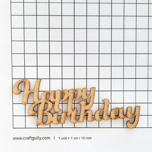 MDF Sentiments #23 - Happy Birthday