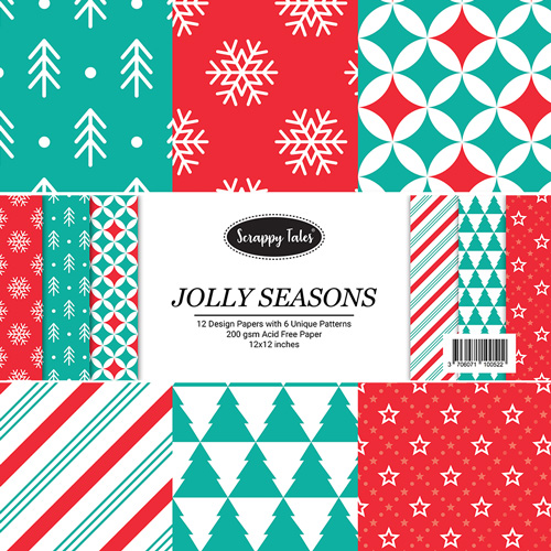 Pattern Papers 12x12 - Jolly Season - Pack of 12