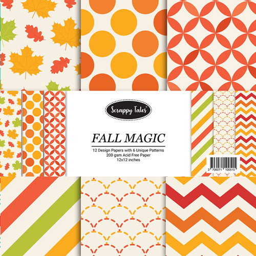 Pattern Papers 12x12 - Fall Magic - Pack of 12