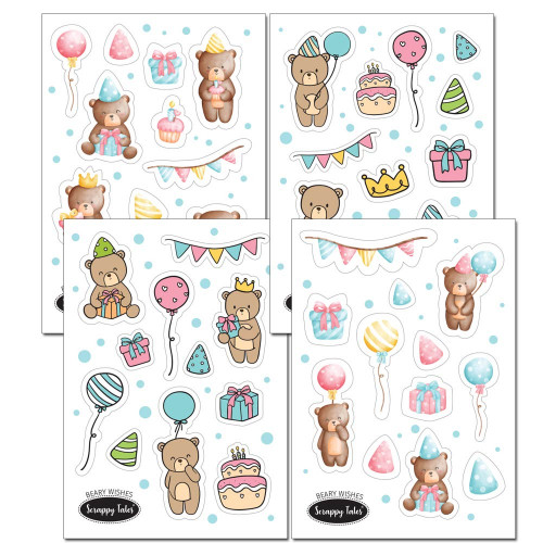 Paper Elements A5 - Beary Wishes - 4 sheets