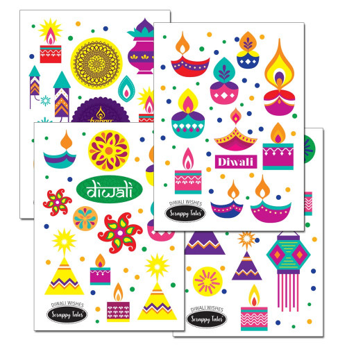 Paper Elements A5 - Diwali Wishes - 4 sheets