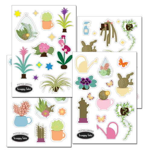 Paper Elements A5 - Potted Greens - 4 sheets