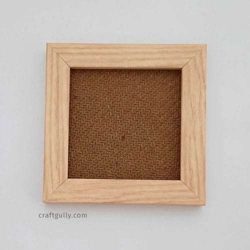 Photo Frame #3 - 4x4 inches - Pinewood Finish