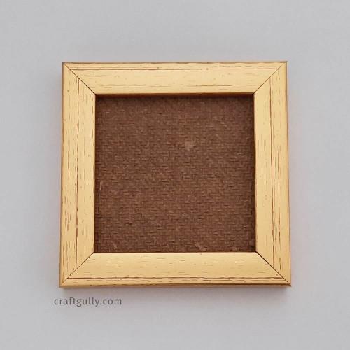 Photo Frame #4 - 4x4 inches - Metallic Golden