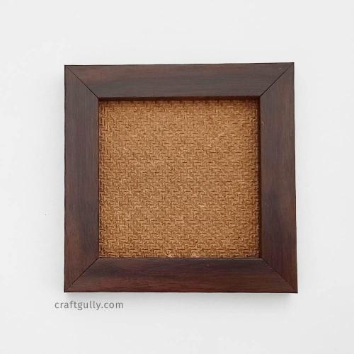 Photo Frame #5 - 4x4 inches - Dark Brown